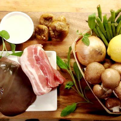 levergryte med bacon og sopp